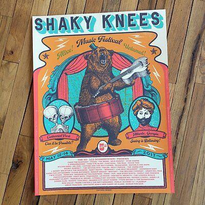 Shaky Knees Fest Poster 5/12-14/2017 Atlanta - GA Signed Artist Ed. #/30