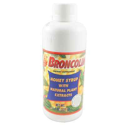 Cough Relief Syrup - Broncolin Honey Cough Relief Syrup, Dietary Supplement, Regular 11.4 oz