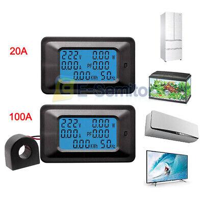 6 In 1 Digital Ac Voltage Meter 100a20a 110-250v Energy Meter Ammeter Lcd Panel
