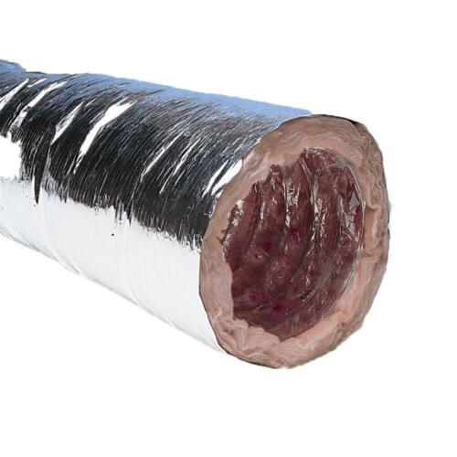 UNICO FLEXIBLE 16 in. x 12 ft Insulated Flexible Duct with Metalized Jacket R4.2