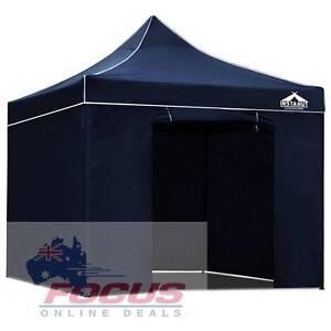 3x3 Pop Up Gazebo Hut with Sandbags Navy Melbourne CBD Melbourne City Preview