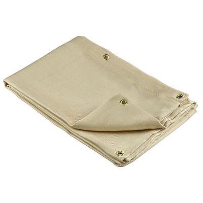 Welding Blanket 4' x 6' - Flame Retardant Heavyweight Fiberglass Brass Grommets