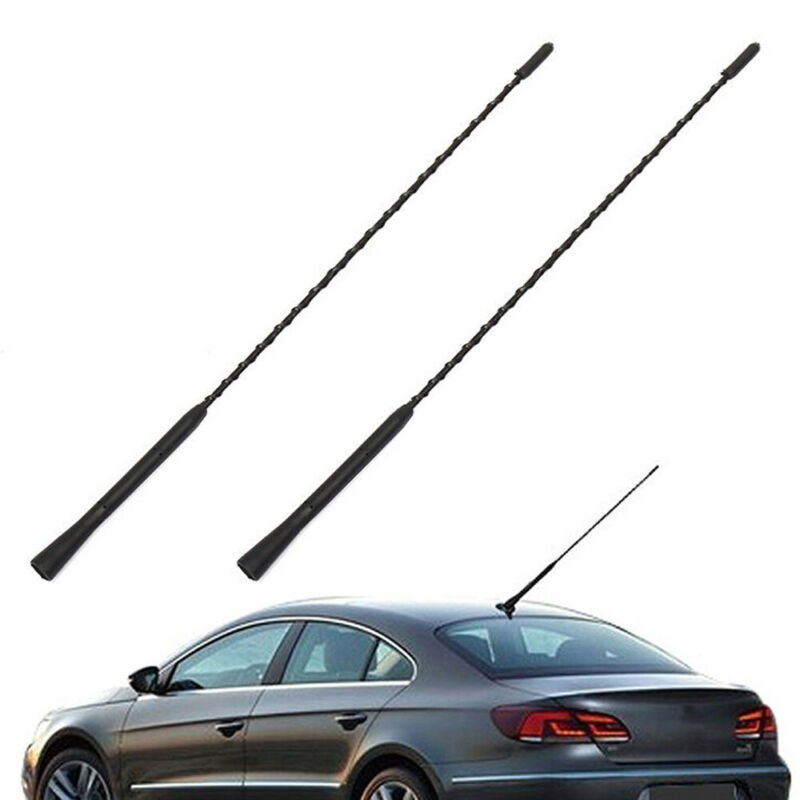 "Universal 16/"" Length Chrome Screw Fixed Base Decorative Antenna for Car Vehicle"