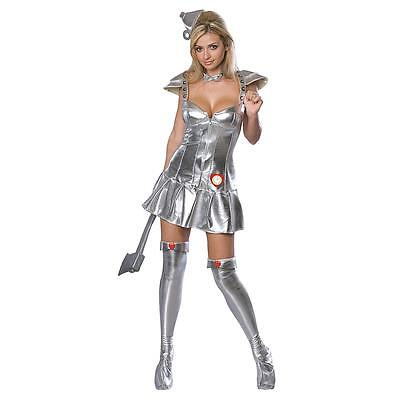 women's adult SEXY TIN WOMAN costume LARGE 10-14 Wizard of Oz tin man
