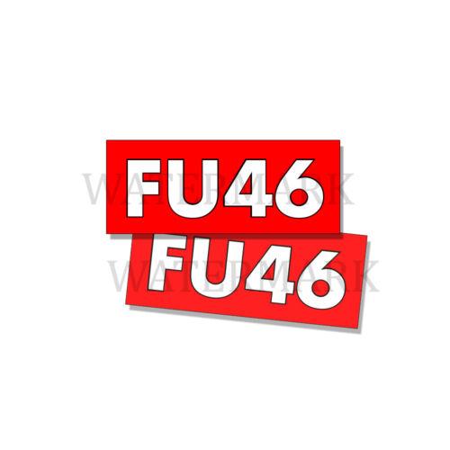 FU46 - ANTI Joe BIDEN - Bumper Sticker Decal FU 46 DND 5in x 2in - 2 Pack