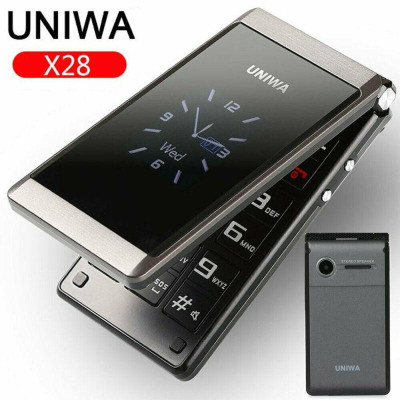 "Unlocked UNIWA 2.8"" Folding Flip Dual Sim Free Basic Simple"