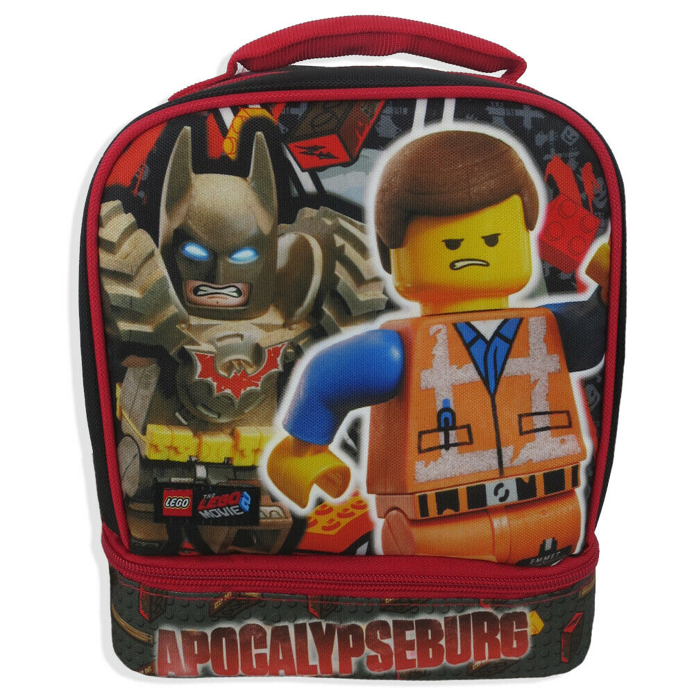 Lego Movie 2 Dual Compartment Insulated Lunch Box Kit Bag To