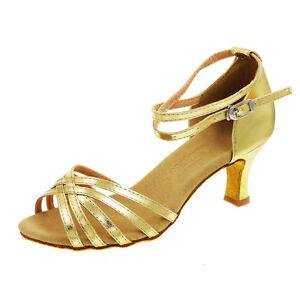 "Ladies Professional Ballroom Dance Shoe Latin Salsa Heeled Tango Shoes 2.7"""