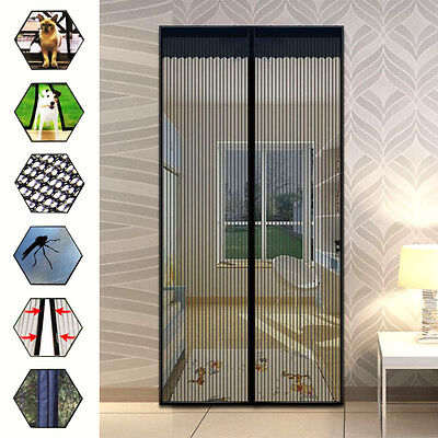 28 Magnets Magic Mesh Screen Net Door Mesh Anti Mosquito Bug Curtain