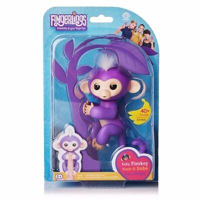 Authentic Fingerlings Interactive Baby Monkey By Wowwee   Mia Fingerling Purple