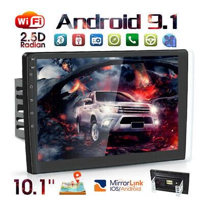 """10.1"""" Android9.1 Car Stereo Radio GPS Navi MP5 Player Double 2Din WiFi Quad Core"""