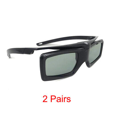 2X Used 3D Active Shutter Glasses TDG-BT400A For Sony RF Bluetooth Lunettes