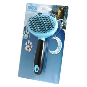 Pet-Fur-Grooming-Shedding-Brush-Comb-Rake-Dog-Cat-Long-Short-Hair-Ball-Head-Blue