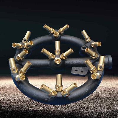 Jet Burner Round Shape Natural Gas Chinese Wok Range 23 Heads Cast Iron New