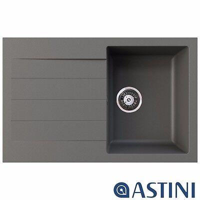 Astini Palermo 1.0 Bowl Granite Graphite Grey Kitchen Sink & Waste