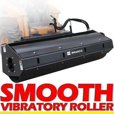"""Smooth Vibratory Roller Attachment for Skid Steer Loaders, 84"""" Fits Bobcat"""
