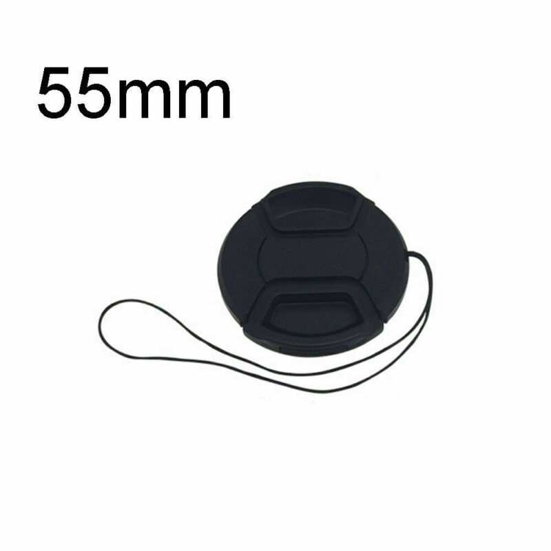 1 x Pack 55mm Front Lens Cap Cover with Cap Keeper For Canon, Nikon, And Others