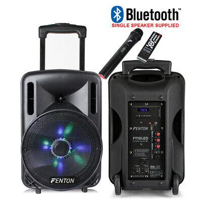 "B-Stock Portable Music System DJ Speaker 10"" 450w Bluetooth Lights & Wireless"