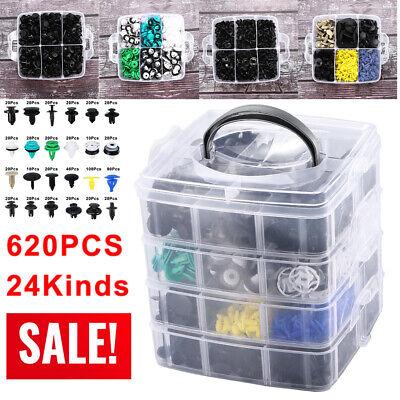 24 Kinds 620 Pcs/Set Plastic Auto Fasteners Car Bumper Fender Repair Parts Clips