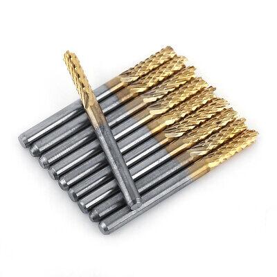 10pcs 18 3.175mm Shank Carbide End Mill Cnc Engraving Router Bit Set
