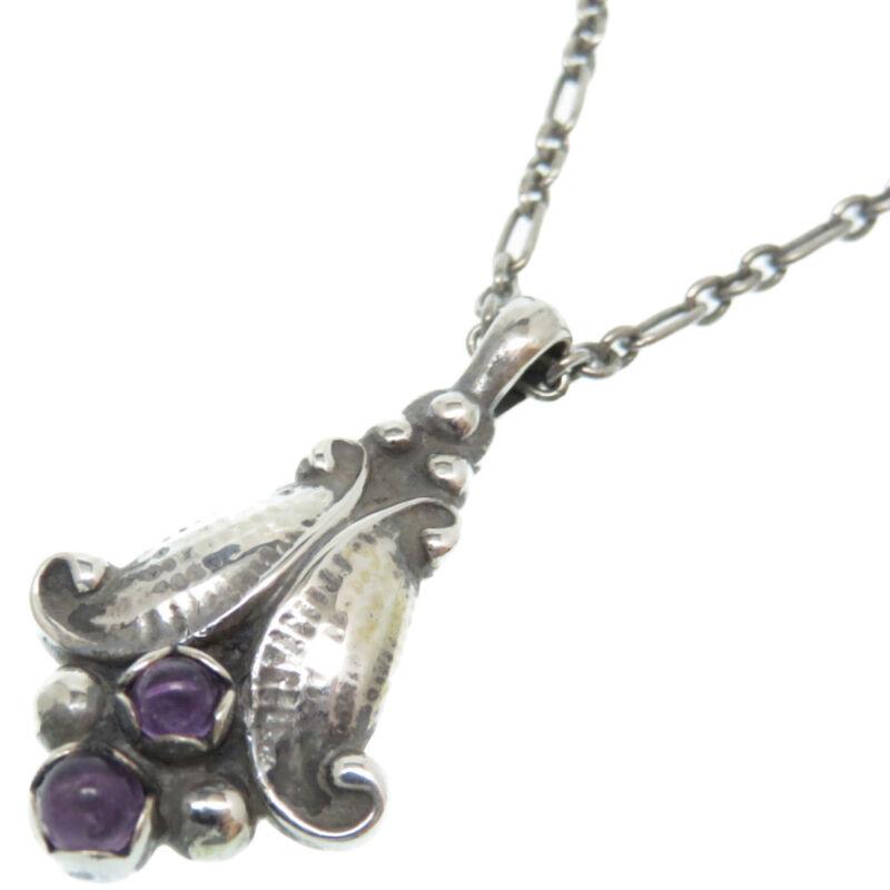 Georg Jensen Necklace Pendant 1993 Sterling Silver Denmark Jewelry #13645