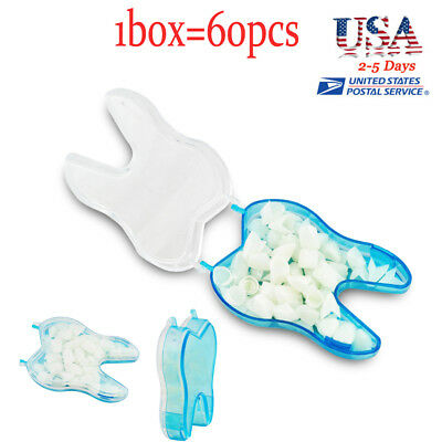 60pcs Dental Temporary Crown Material For Anterior Molar Teeth Veneers Usa