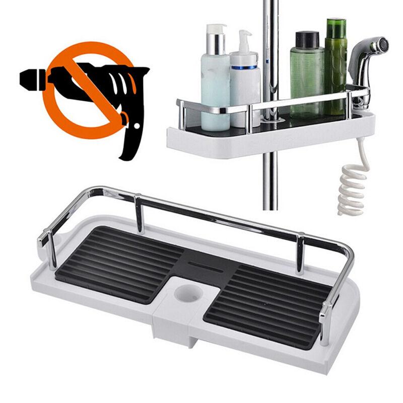 Duschregal ohne Bohren Duschablage für Duschstange Seifenkorb Verstellbar Höhe