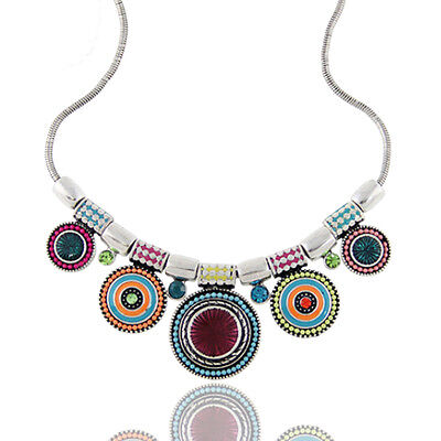 Tribal Boho Gypsy Beachy Bohemian Statement Coin Charm Necklace Pendants Gifts