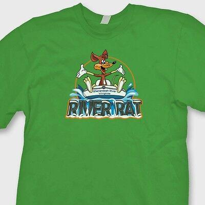 River Rat Shenandoah River Va  T Shirt Rafting Water Sports Tubing Tee Shirt