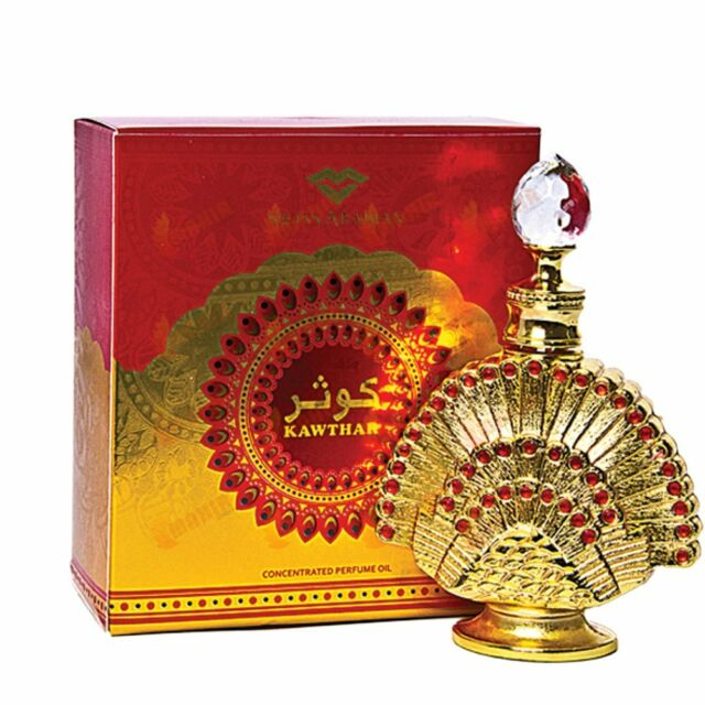 KAWTHAR BY SWISS ARABIAN TURKISH ROSY AGARWOODY PERFUME OIL/ATTAR/ITAR 15ML