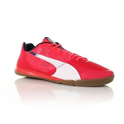 PUMA EVOSPEED SALA LOW SNEAKERS  TRAINERS SPORTS MEN SHOES RED/WHITE SIZE 12 NEW