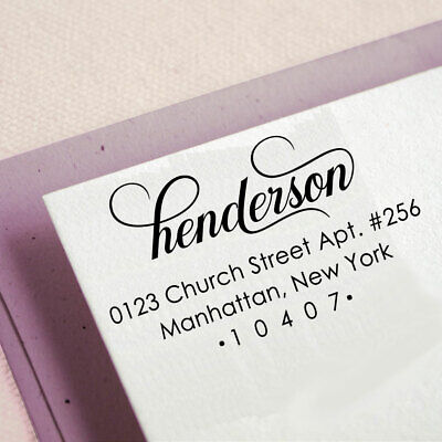 Self Inking Custom Return Address Stamp Personalized Rubber Stamp-ipo