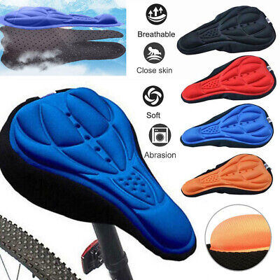 3D Silicone Gel Bike Bicycle Cycling Saddle Seat Cover Extra Comfort Cushion Pad