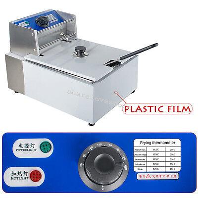 2.5kW 5.5L Electric Countertop Deep Fryer Commercial Basket Restaurant 110V/60Hz