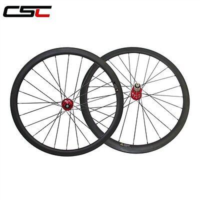 Csc 23Mm Width Disc Brake Hub 38Mm Clincher Tubeless Compatible Carbon Wheelset