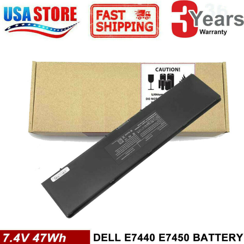 54WH 3RNFD Battery For Dell Latitude E7440 E7450 E7420 34GKR PFXCR 7.4V