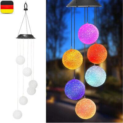Gartendeko Solarleuchte DE LED Solar Windspiel inkl 6 Kugeln mit Farbwechsel