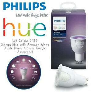 PHILIPS Hue Led Colour GU10 (Compatible with Amazon Alexa, Apple Home Kit and Google Assistant) Condtion: Lightly used