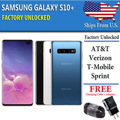 Samsung Galaxy S10+ PLUS 128GB UNLOCKED (CDMA + GSM) Verizon ATT T-Mobile Sprint
