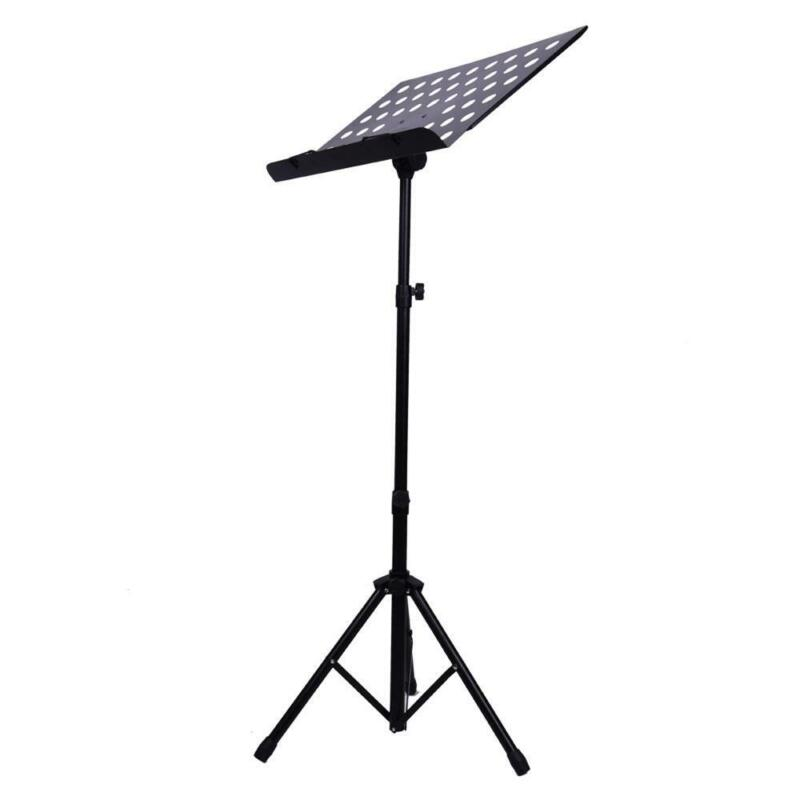 New Durable Adjustable Folding Music Stand Holder Folding Stage Black