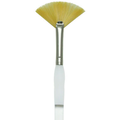 Gold Taklon Fan (ROYAL BRUSH SG850 Soft Grip Gold Taklon Fan Size 2)