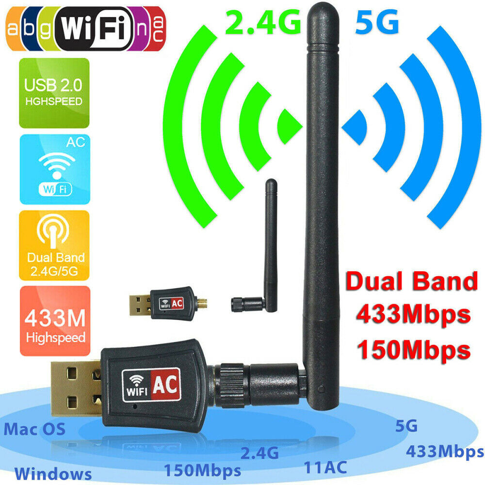 600mbps wireless adapter usb wifi router pc