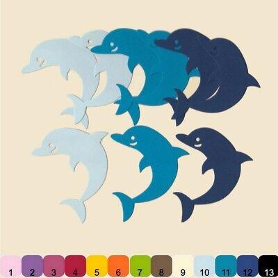 Dolphin Papier (9 Découpes en papier _ DAUPHIN dolphin 7x6cm _ Die cut scrapbooking carterie    )