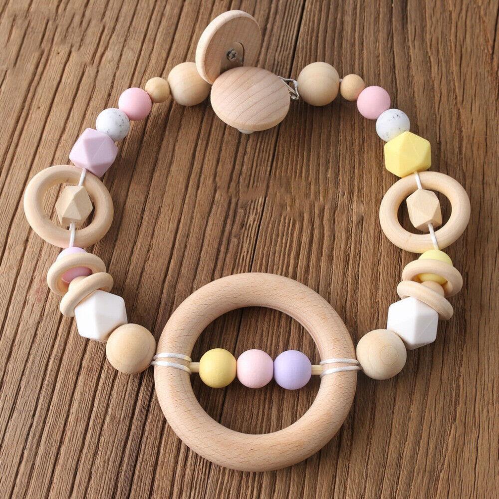 5X Car Shape Silicone Beads DIY Baby Teether Sensory Teething Toy Bracelet Chain