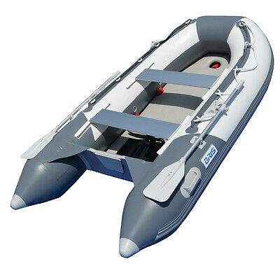 BRIS 9.8 ft Inflatable Boat Dinghy Yacht Tender Fishing Raft Pontoon W/Air Floor Air Floor Inflatable Boat