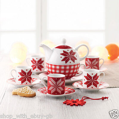 12pc Espresso Cups And Saucers Set With Box Tea Coffee Cup Seasonal Christmas