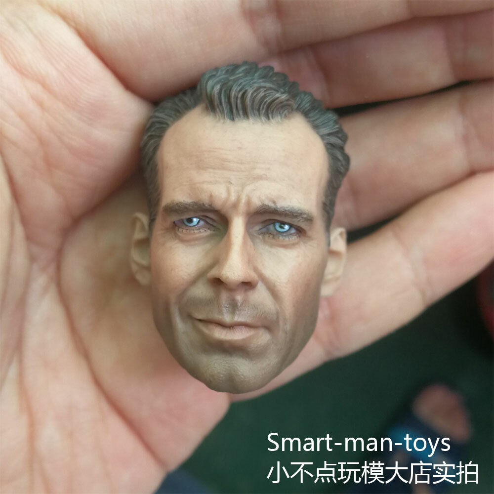 Custom 1//6 Scale Bruce Willis Head Sculpt For John Mcclane Die Hard Kit Bashing