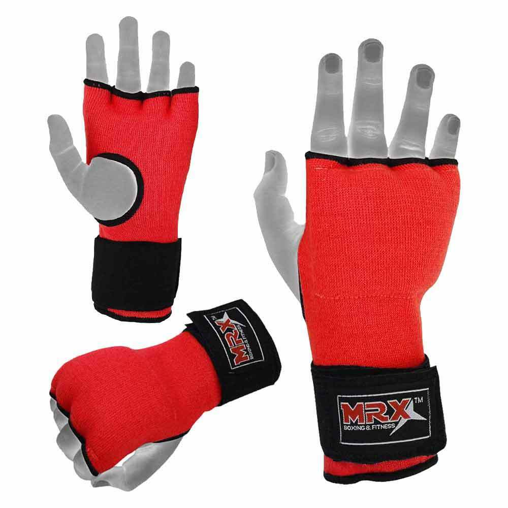 MMA Inner Gel Gloves Padded Bandage Boxing Karate Straps Hand Wrist Wraps Red