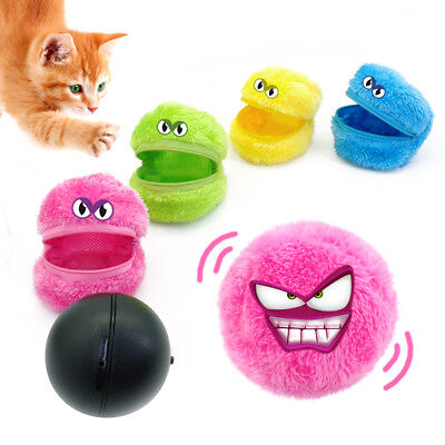 Automatic Sweeper Ball Dog Cat Toy Microfiber Mop Plush Floor Clean Ball 4Shells