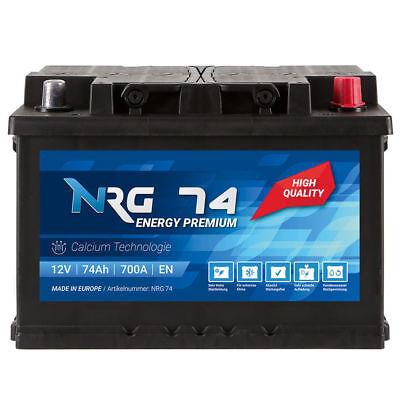 Autobatterie NRG 12V 74Ah Starterbatterie WARTUNGSFREI TOP ANGEBOT 75Ah 77Ah